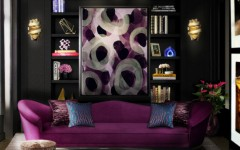 Find the Perfect Living Room Design with Floor Lamp Ideas colette sofa tresor stool chloe sconce blackcobra rug koket projects 240x150