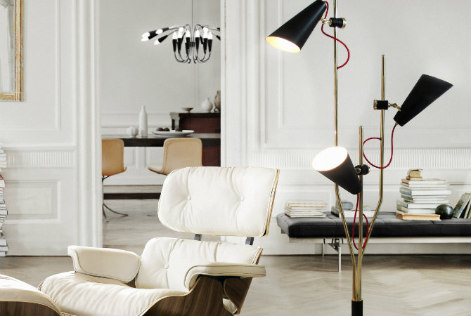 10 Bright Decor Ideas with Modern Floor and Table Lamps delightfull evans 3 lights vintage floor lamp