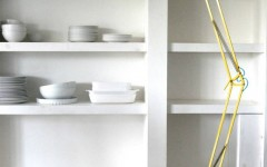 Yellow modern floor lamps for your home designs acid yellow angled floor lamp by the forest & co