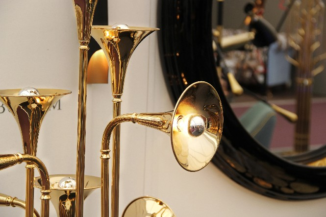 Botti Music-inspired Floor Lamp  Botti Floor, a music-inspired lamp delightfull botti floor handmade brass lamp 09