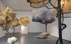sculpture lamps Nacho Carbonell fills Paris Gallery with Amazing Sculpture Lamps Nacho Carbonell fills Paris gallery with giant cocooned lamps 240x150