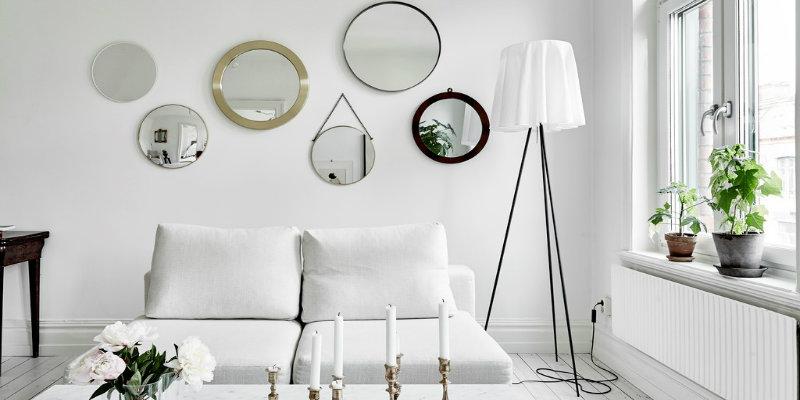 Swedish Apartment Shining with Scandinavian Floor Lamps feat