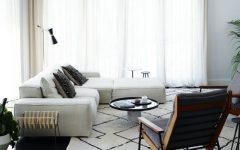 Mid-Century Floor Lamps Brighten Up Open Plan Living Room FEAT