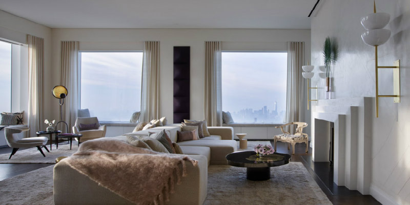 Penthouse Filled with Modern Floor Lamps in Manhattan FEAT