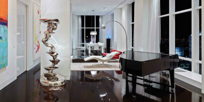 Dazzling Lighting Designs Brighten Up Trump World Tower Apartment FEAT  Dazzling Lighting Designs Brighten Up Trump World Tower Apartment Dazzling Lighting Designs Brighten Up Trump World Tower Apartment FEAT