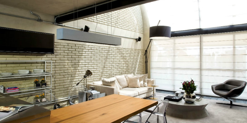 arc floor lamp Industrial Loft in Sao Paulo Features Dazzling Arc Floor Lamp Industrial Loft in Sao Paulo Features Dazzling Arc Floor Lamp FEAT