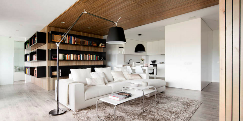 The Light Filled House Stunned With Modern Floor Lamp!
