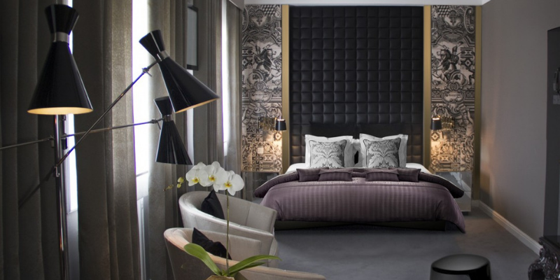 luxurious industrial bedrooms What's Hot On Pinterest Floor Lamps In Luxurious Industrial Bedrooms! Design sem nome 97