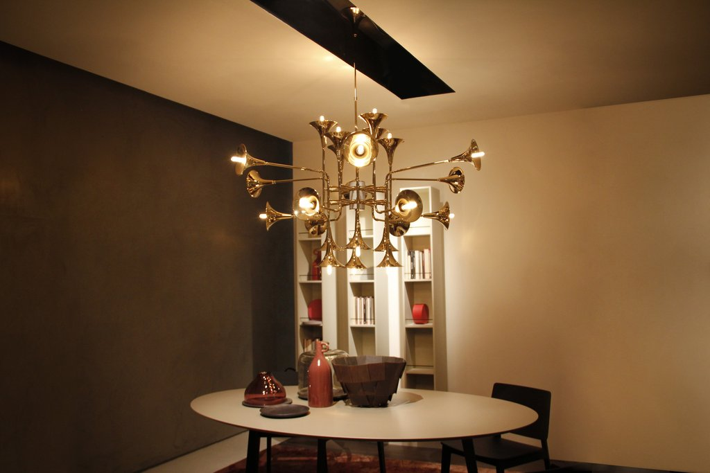 gold-plated lamps