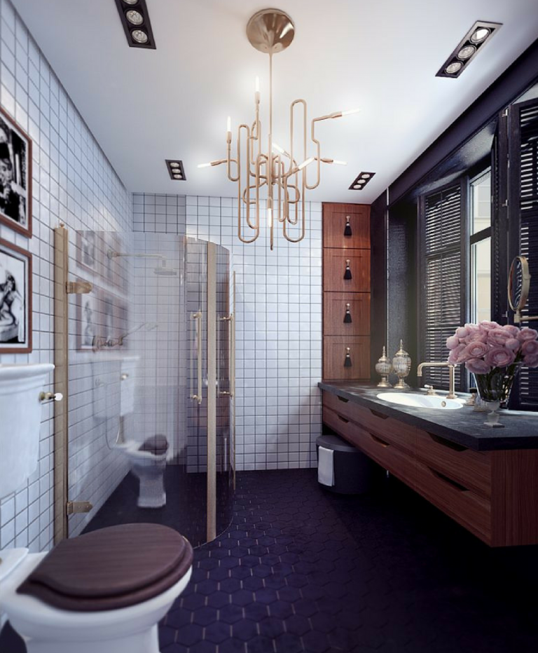 How These Lighting Pieces Added Warmth to a Cold, Unwelcoming Bathroom bathroom How These Lighting Pieces Added Warmth to a Cold, Unwelcoming Bathroom 8 1